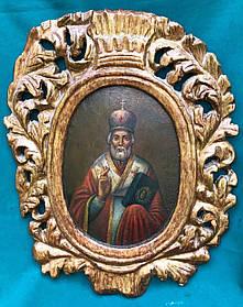 Икона Николая Чудотворца 18 век украинское барокко