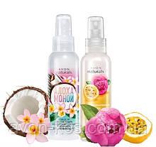 Лосьйон-спрей для тіла - Комплект 2 шт: Кокос і квітка тіарі, Спокуслива маракуйя і півонія