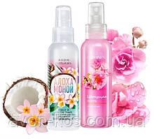Лосьйон-спрей для тіла - Комплект 2 шт: Кокос і квітка тіарі, Квітуча сакура