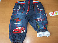 Детские теплые  джинсы, на махре для мальчика  74-80 cm  Турция