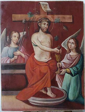 Икона Иисус виноградная лоза 19 век, фото 2