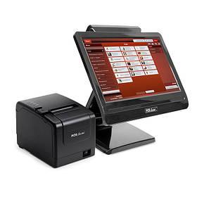 """Комплект pos оборудования для кафе, ресторана: сенсорный терминал 15,6"""", принтер чеков + Программа"""