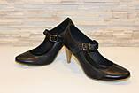Туфли женские черные натуральная кожа код Т12, фото 4