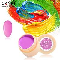 Гель-краска Canni №597 пастельная темно-розовая, 5 мл
