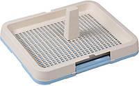 113779 AnimAll Туалет под пеленку с сеткой и столбиком М, голубой