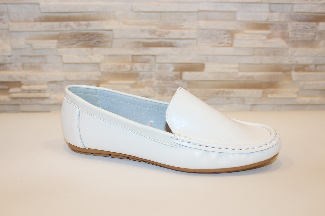 Туфли женские кремовые натуральная кожа Т1118