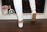 Туфли женские кремовые натуральная кожа Т1118, фото 3