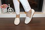 Туфли женские кремовые натуральная кожа Т1118, фото 4