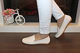 Туфли женские кремовые натуральная кожа Т1118, фото 6