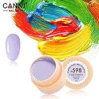 Гель-краска Canni №598 нежная светло-лавандовая, 5 мл
