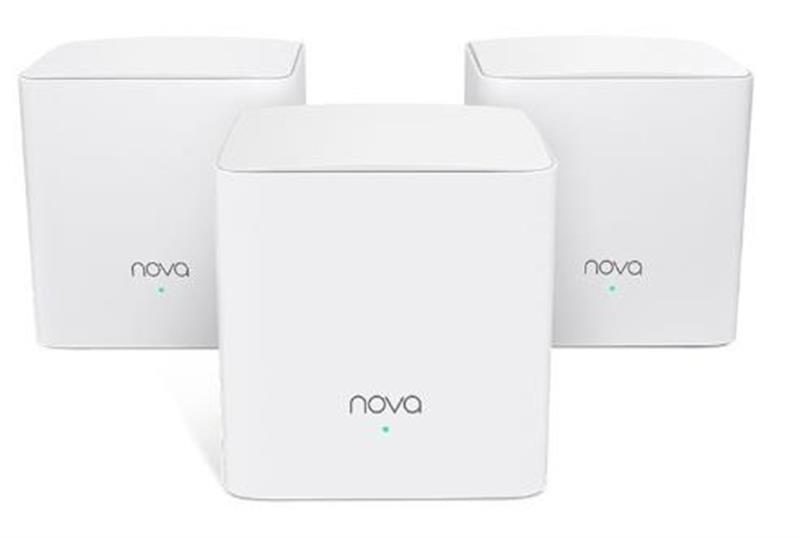 WiFi Mesh система Tenda Nova MW5s MESH MW5S-KIT-3 (AC1300, 2xGE/2FE, 3шт, Beamforming, MESH)