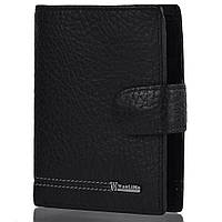 Кожаный мужской кошелек WANLIMA (ВАНЛИМА) W72042020003-black, фото 1