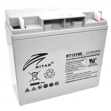 Аккумуляторная батарея Ritar 12V 18AH (RT12180) AGM, фото 2