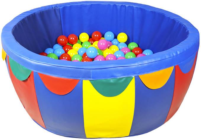 Сухой бассейн для дома с шариками 100*40*5 см TIA-SPORT, фото 2