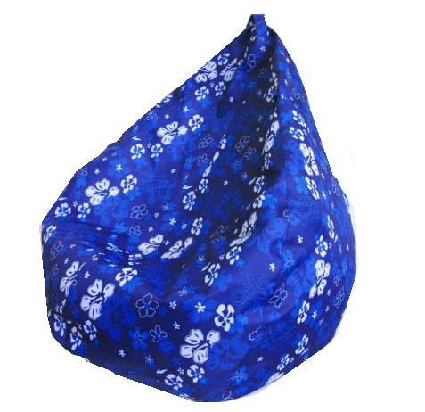 Кресло груша Принт Синие Цветы TIA-SPORT