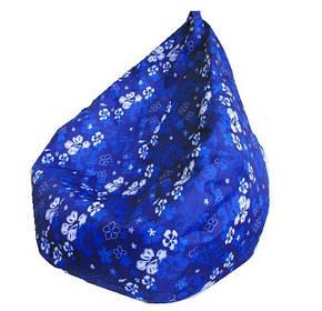 Кресло груша Принт Синие Цветы TIA-SPORT, фото 2