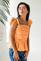 Элегантная летняя блузка QJBM - оранжевый цвет, L (есть размеры), фото 1