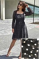 Интересное платье в горох уцененное Busem - белый с черным цвет, L (есть размеры)