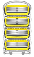 Сменные кассеты Gillette Fusion Proshield, на 5 лезвий (4шт.) без упаковки