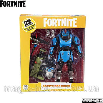 Колекційна фігурка Фортнайт Ріно McFarlane Toys Fortnite Beastmode Rhino Premium Action Figure