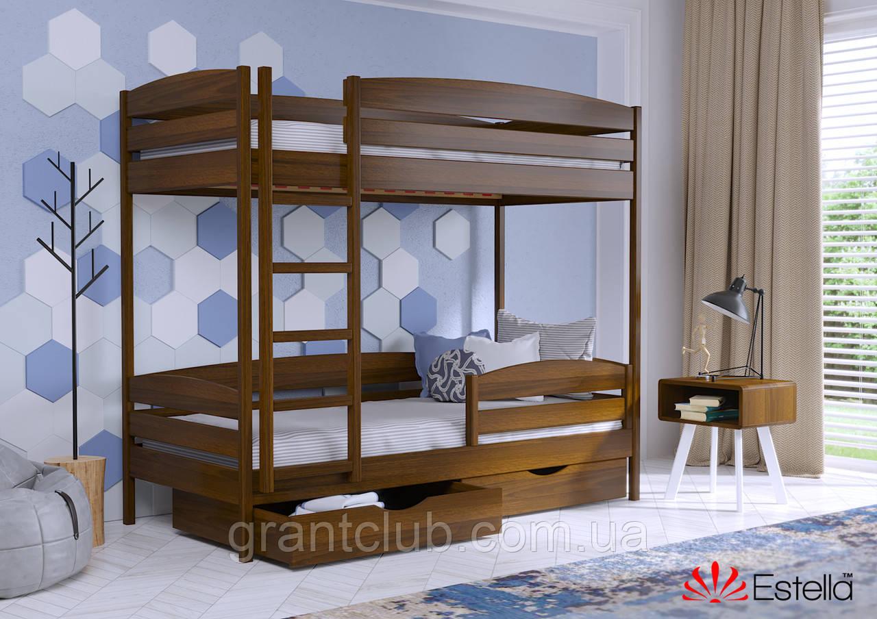 Двоярусне ліжко Дует Плюс 80х190 103 Масив 2Л4