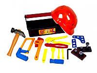"""Набор детских инструментов """"Юный слесарь"""" (с каской), в чемодане 31-005 Kinderway"""