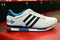 Кроссовки мужские белые Adidas для спорта, бега (модные новинки весна, лето, осень)