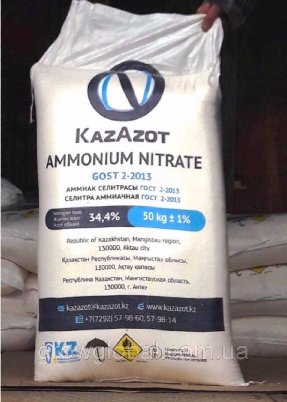 Селитра аммиачная 50 кг (мешок), азотное удобрение