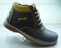 Ботинки Timberland мужские синие мех