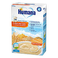 Каша молочная Humana 5 злаков с печеньем 200 г 77555 ТМ: Humana