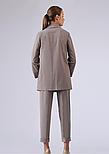 Жіночий костюм з жакета та штанів в клітку коричневий Lesya Міджі, фото 3
