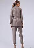 Жіночий костюм з жакета та штанів в клітку коричневий Lesya Міджі, фото 5