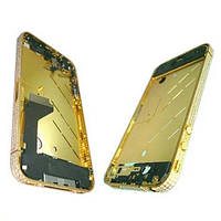 Apple Средняя часть корпуса iPhone 4 золотистая c кристалами Swarovski + боковые кнопки