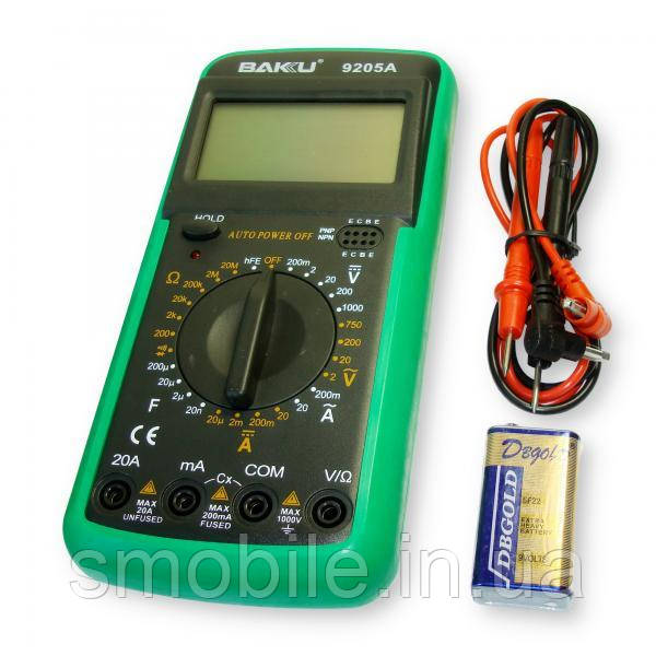Baku (tools) Мультиметр BK9205A с функцией отключения (ток до 20A)