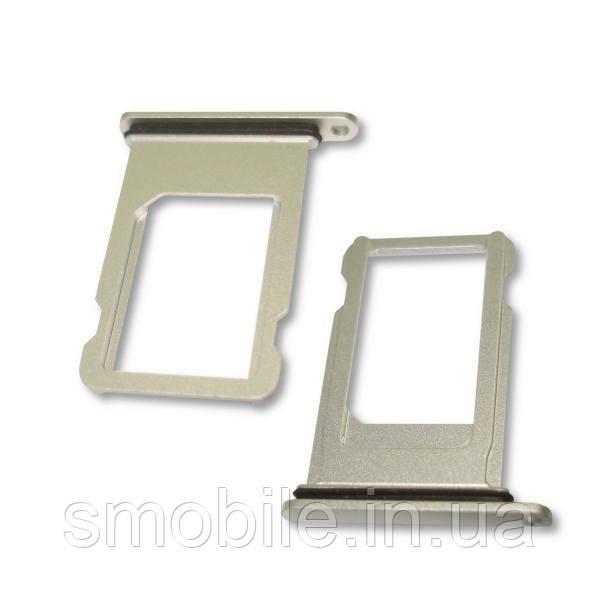 Apple Держатель, внешний слот SIM карты iPhone 8 Plus серебристый- оригинал