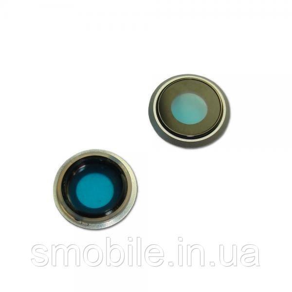 Apple Стекло основной камеры iPhone 8 с внешним кольцом серебристого цвета (оригинал)