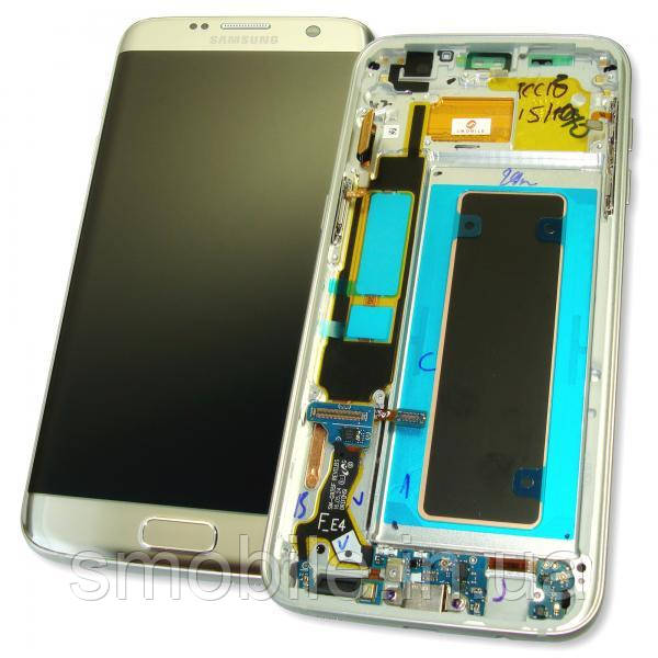 Samsung Дисплей Samsung G935F Galaxy S7 Edge с сенсором и рамкой, серебристый GH97-18533B (оригинал 100%)