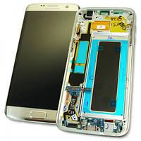 Samsung Дисплей Samsung G935F Galaxy S7 Edge с сенсором и рамкой, серебристый GH97-18533B (оригинал 100%), фото 1