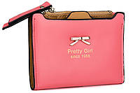 """Розовый женский кошелек из искусственной кожи """"Бантик"""", фото 1"""