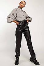 Женский костюм с рубашкой и кожаными брюками (Шарлони-Стоун ri), фото 3