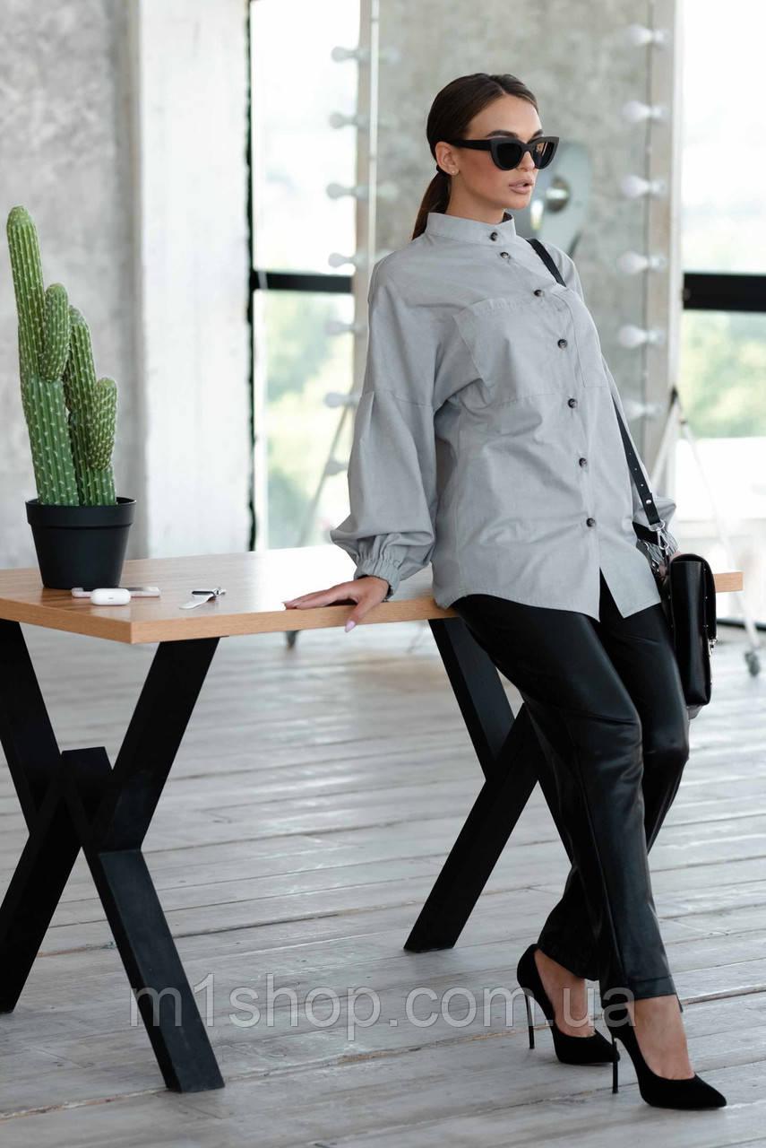 Женский костюм с рубашкой и кожаными брюками (Шарлони-Стоун ri)