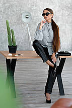 Женский костюм с рубашкой и кожаными брюками (Шарлони-Стоун ri), фото 2