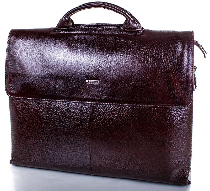 Портфель из кожи для ноутбука Desisan Shi1312-10fl коричневый