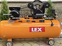 Компрессор воздушный ременной LEX LXC-150-2/230V 3800 Вт 740 л/мин, фото 1
