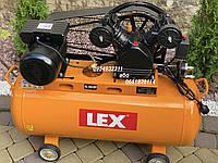 Компрессор воздушный ременной LEX LXC-100-2/230V 2800 Вт 660 л/мин, фото 1