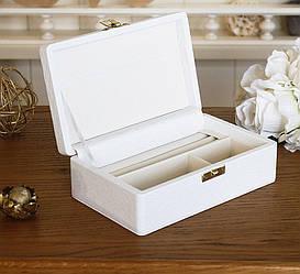 Шкатулка для ювелирных украшений белая