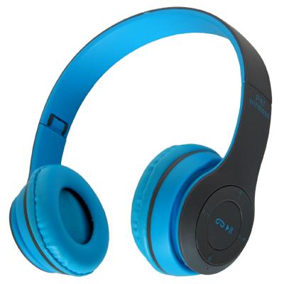 Беспроводные наушники Bluetooth / microSD MDR P47 синий УЦЕНКА