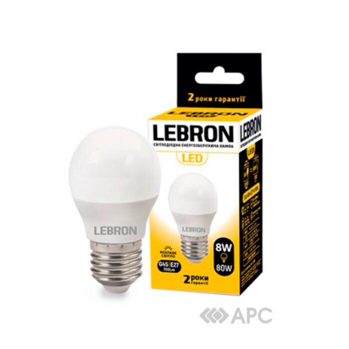 LED ЛАМПА LEBRON L-A60, 8W, Е27, 4100K, 700LM, КУТ 240°