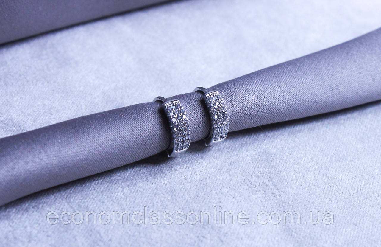 Серьги фирмы Xuping с родиевым покрытием (Rhodium color 40)