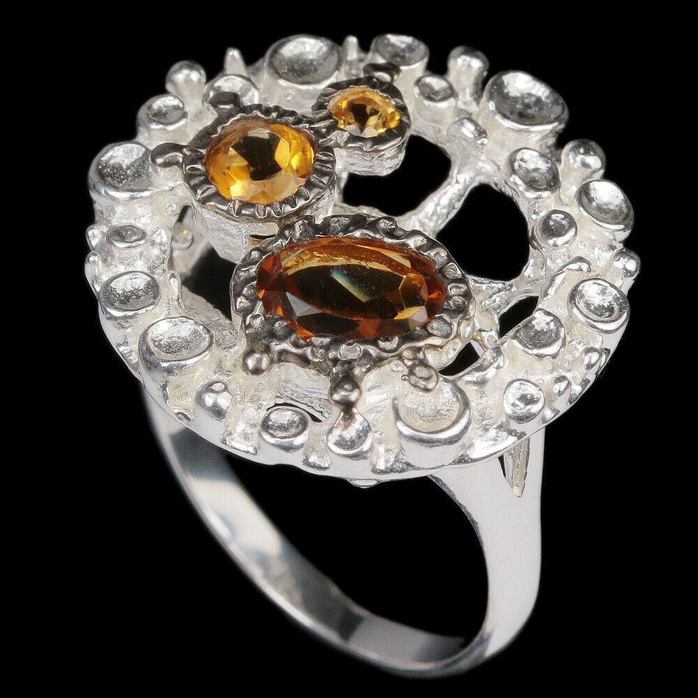Серебряное кольцо с цитрином, 2467КЦЦ
